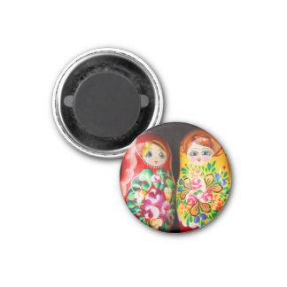 Muñecas coloridas de Matryoshka Imán Para Frigorífico