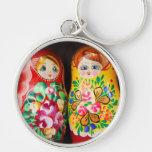 Muñecas coloridas de Matryoshka Llavero Personalizado