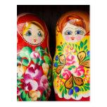 Muñecas coloridas de Matryoshka Postal
