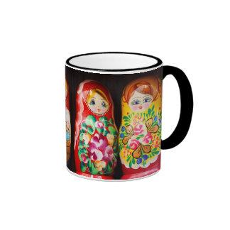 Muñecas coloridas de Matryoshka Taza A Dos Colores