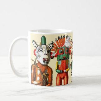 Muñecas de Kachina de la tribu del nativo american Taza Básica Blanca