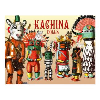 Muñecas de Kachina de la tribu del nativo Postal