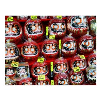 Muñecas de la buena suerte de Daruma de Japón Tarjetas Postales