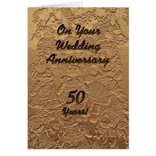 Muñecas de la enhorabuena del aniversario de boda tarjeta de felicitación