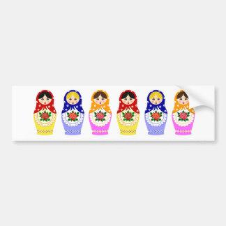 Muñecas de Matryoschka Pegatina De Parachoque