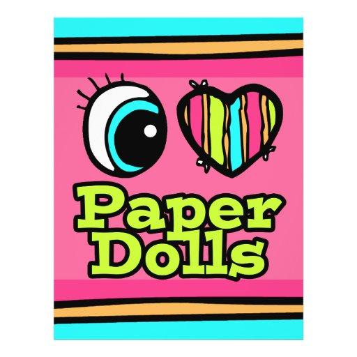 Muñecas de papel del ojo del amor brillante del co flyer personalizado