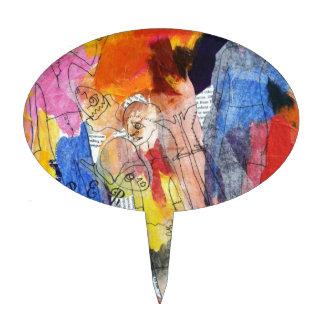 Muñecas de papel una pintura de Connelly Palillos De Tarta