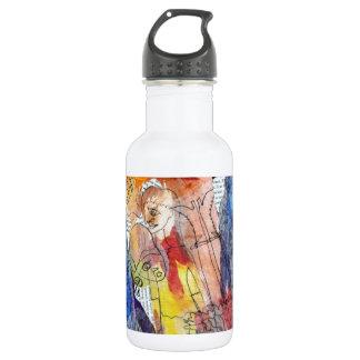 Muñecas de papel una pintura de Connelly Botella De Agua De Acero Inoxidable