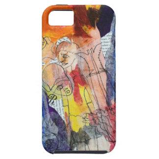 Muñecas de papel una pintura de Connelly iPhone 5 Case-Mate Cárcasas
