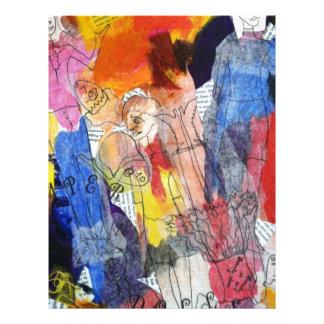 Muñecas de papel una pintura de Connelly Membrete