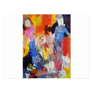 Muñecas de papel una pintura de Connelly Postal