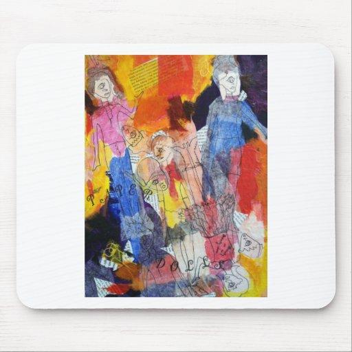 Muñecas de papel una pintura de Connelly Tapete De Raton