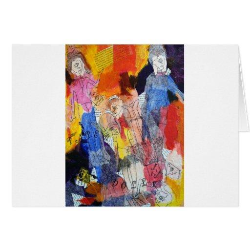 Muñecas de papel una pintura de Connelly Felicitacion
