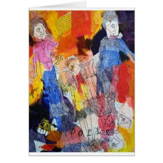 Muñecas de papel una pintura de Connelly Tarjeta