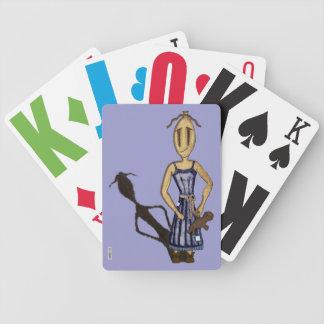 Muñecas de trapo - el chica con el oso de peluche baraja cartas de poker