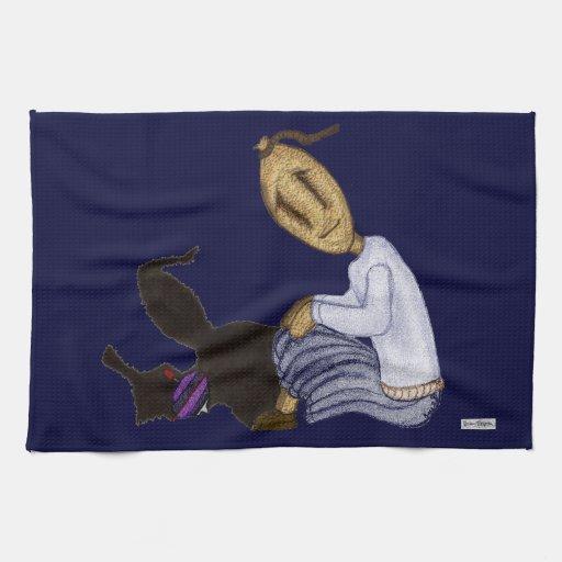 Muñecas de trapo - el chica con el top de giro toalla de mano