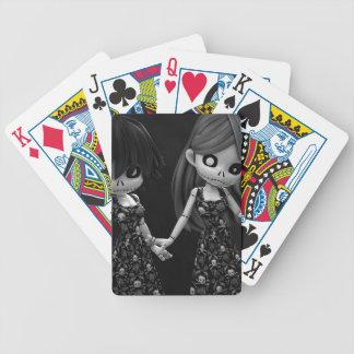 Muñecas de trapo góticas BW Baraja Cartas De Poker