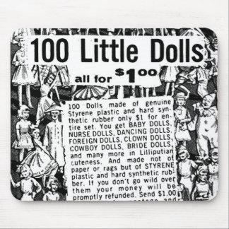 Muñecas del anuncio 100 del cómic del vintage del  tapetes de raton