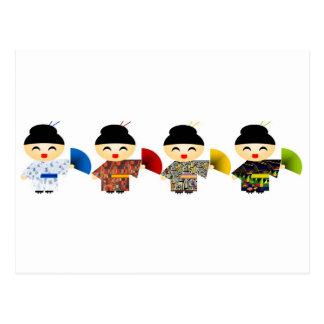Muñecas del geisha tarjeta postal