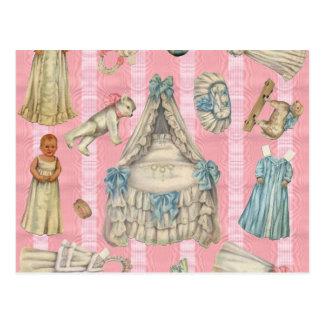Muñecas del papel del cuarto de niños del Victoria Tarjetas Postales