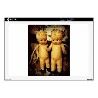 Muñecas del vintage de los gemelos calcomanía para 43,2cm portátil