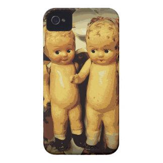 Muñecas del vintage de los gemelos Case-Mate iPhone 4 carcasa