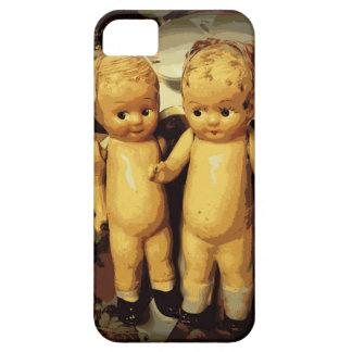 Muñecas del vintage de los gemelos iPhone 5 carcasas