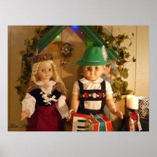 ¡Muñecas del vintage en Alemania! Poster para el s