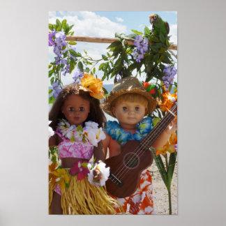 Muñecas del vintage en Hawaii Impresiones