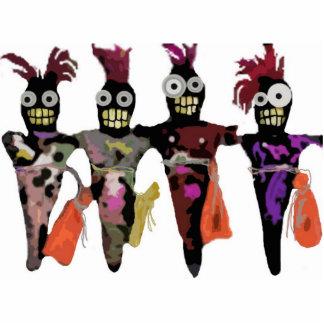 Muñecas del vudú esculturas fotograficas