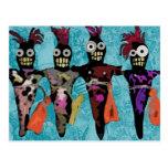 Muñecas del vudú postal
