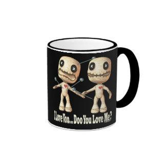 Muñecas del vudú taza a dos colores