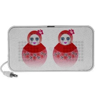 Muñecas gemelas de Babushka del ruso Mini Altavoz