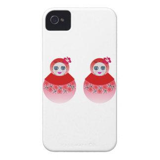 Muñecas gemelas de Babushka del ruso iPhone 4 Carcasas