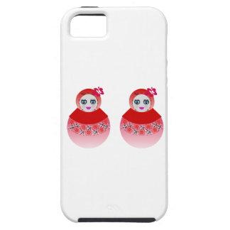 Muñecas gemelas de Babushka del ruso iPhone 5 Carcasa