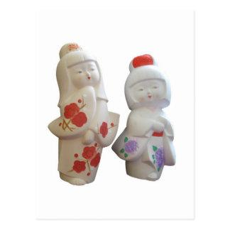 Muñecas japonesas del geisha tarjetas postales