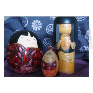 Muñecas japonesas tarjeta de felicitación