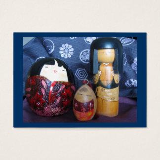 Muñecas japonesas tarjetas de visita grandes