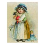 Muñecas rechonchas del gorra de las mejillas de la tarjetas postales
