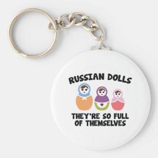 Muñecas rusas. Son tan llenas de ellos mismos Llavero Redondo Tipo Pin