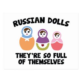 Muñecas rusas. Son tan llenas de ellos mismos Postales
