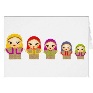 Muñecas rusas felicitaciones