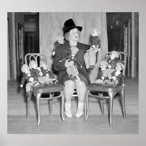 Muñecas simuladas de Dan: 1938 Posters