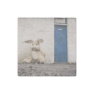 muñecas tristes solas del conejito imán de piedra
