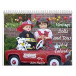 ¡Muñecas y juguetes del vintage!  Calendario 2014