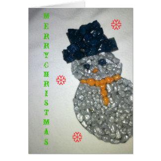 Muñeco de nieve 111111111 tarjeta de felicitación