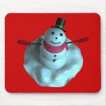 muñeco de nieve 3D Alfombrillas De Ratón
