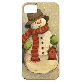 Muñeco de nieve 4905 y Birdhouse Funda Para iPhone SE/5/5s