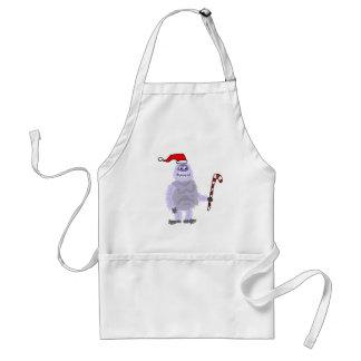 Muñeco de nieve abominable del navidad divertido delantal