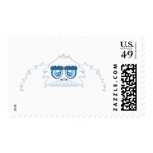 Muñeco de nieve abominable timbres postales